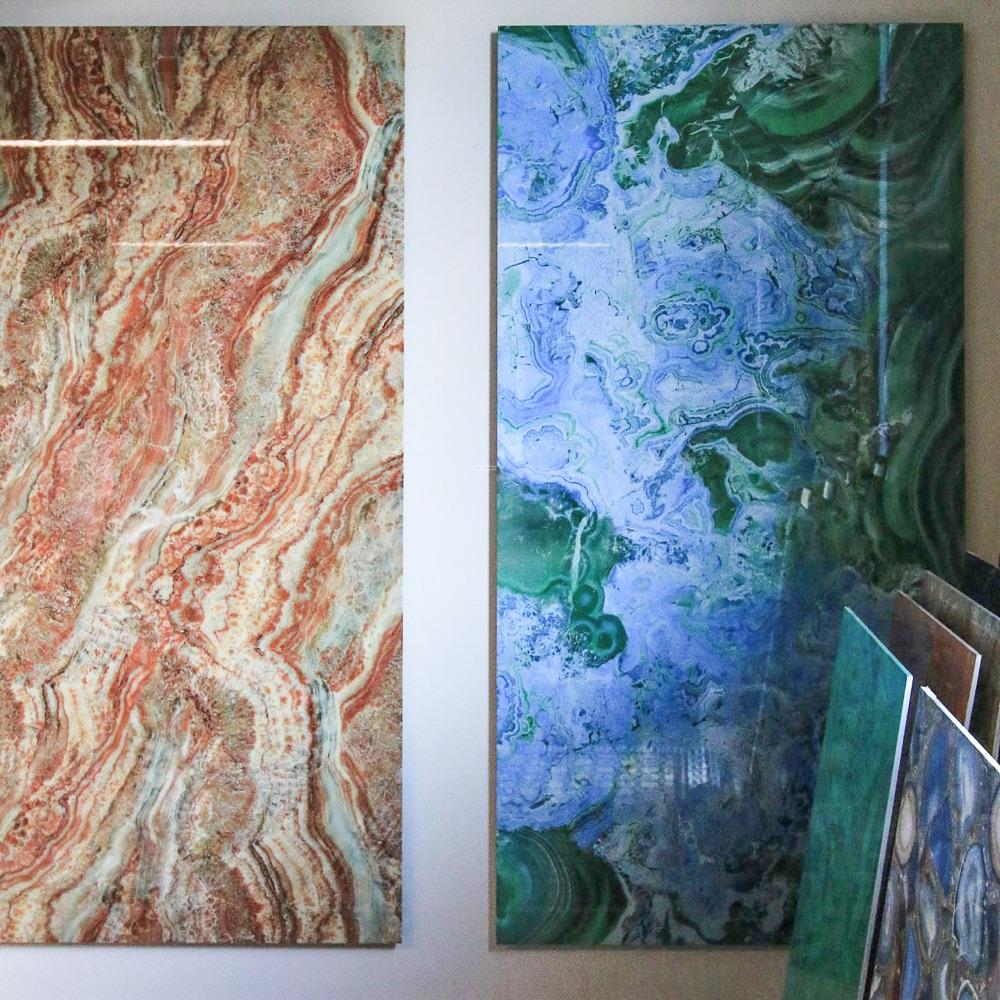 Kerana Fliesen aus Naturstein Stilwerk Berlin gemustert