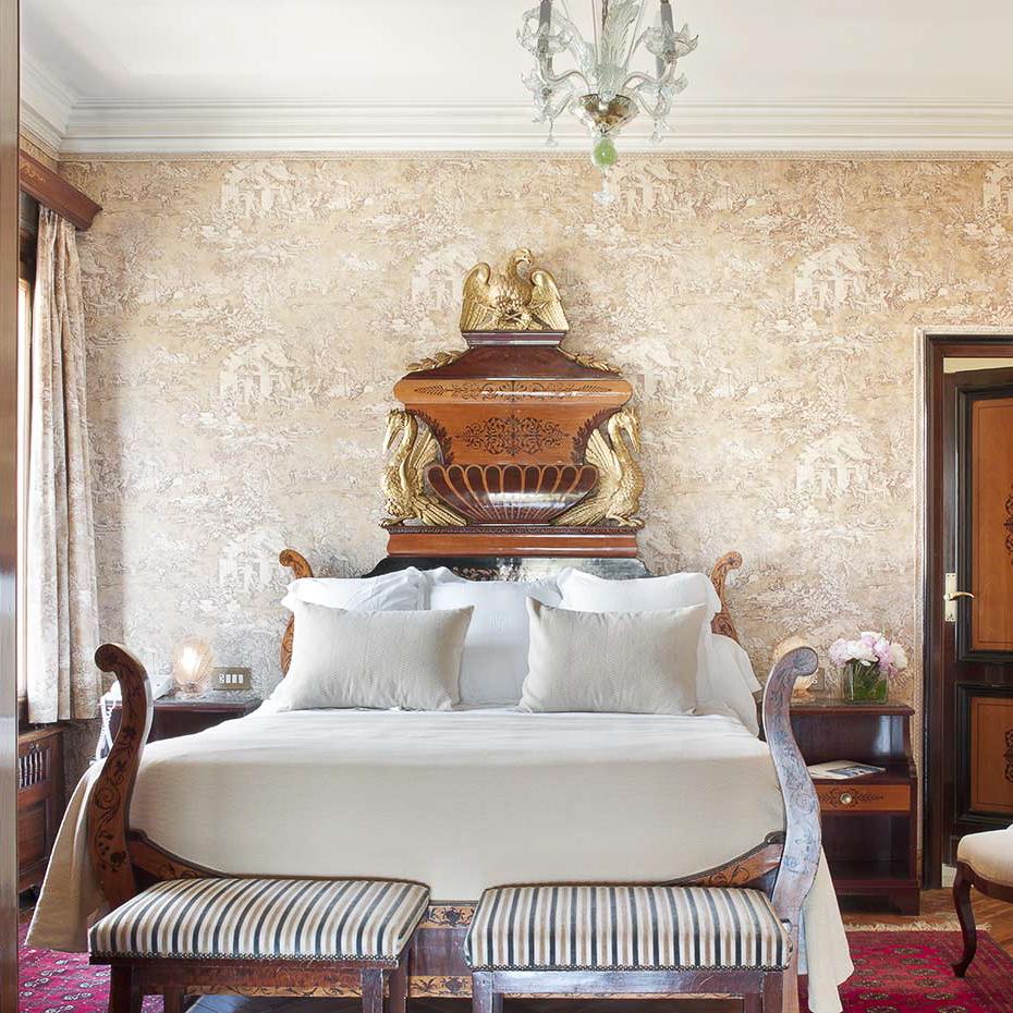 La Gavina Luxushotel am Meer Spanien Doppelbett