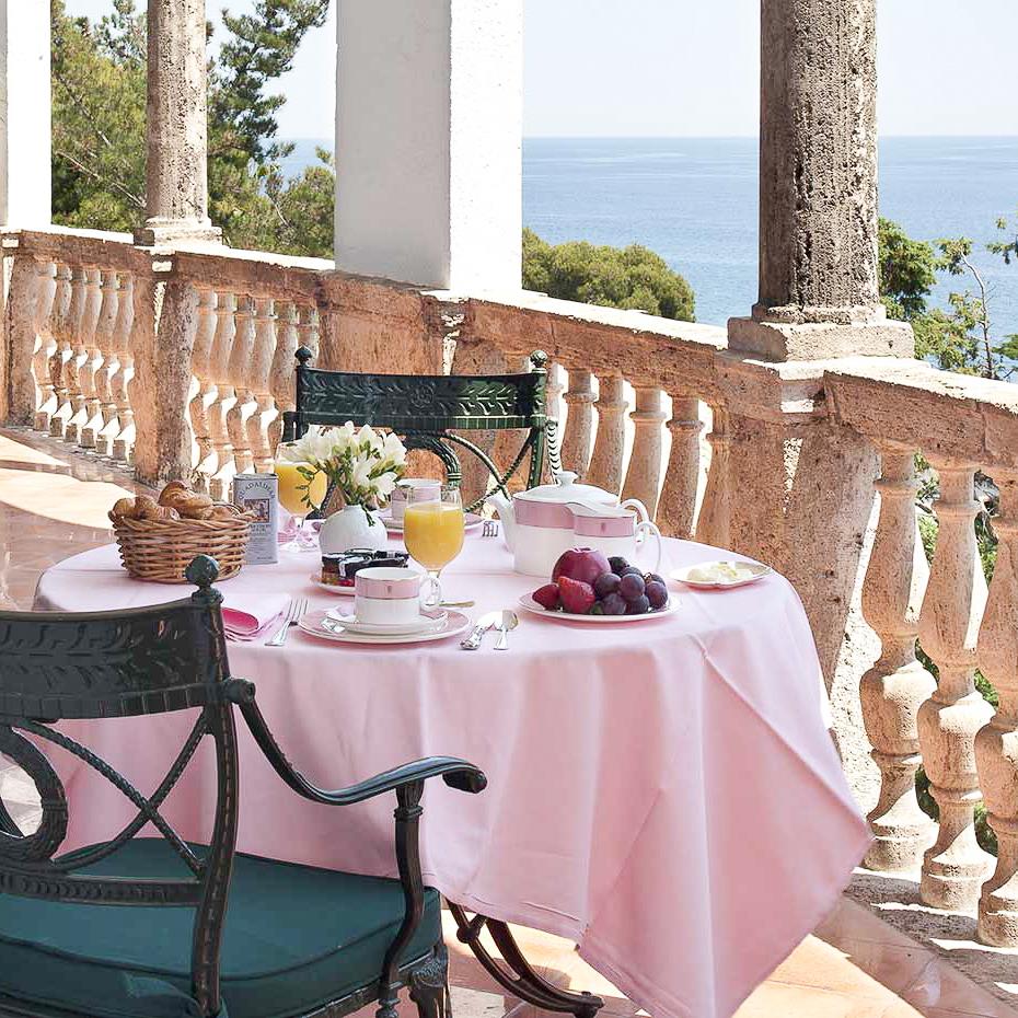 La Gavina Luxushotel am Meer Spanien Frühstück mit Meerblick