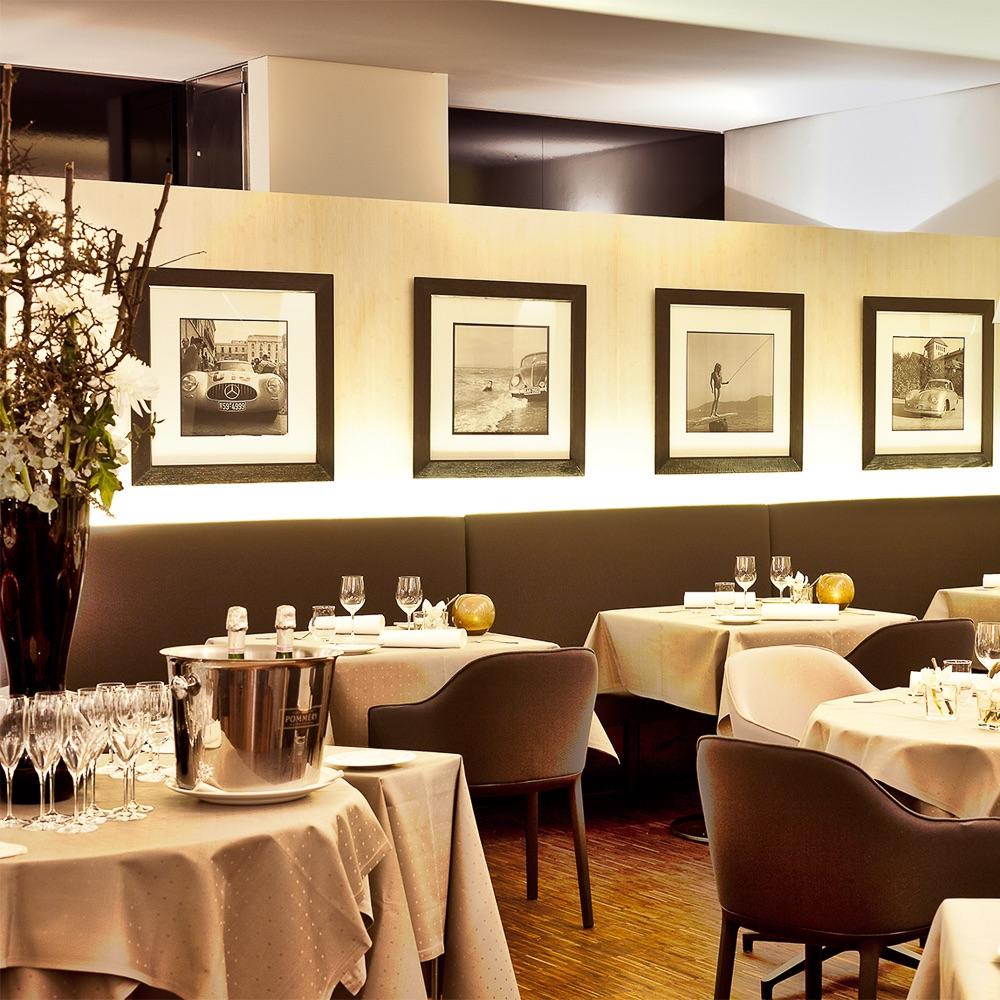 les deux restaurant im sch fflerhof m nchen creme guides. Black Bedroom Furniture Sets. Home Design Ideas