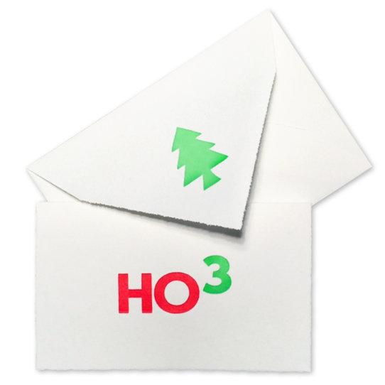 Hohoho Weihnachtskarte Spreeatelier