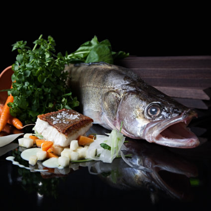 Rutz Weinbar Restaurant Berlin Fisch