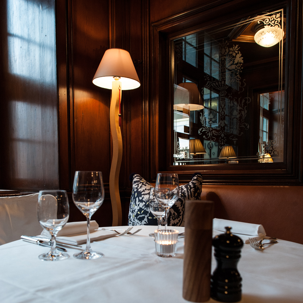 Restaurant Kindli Zürich Gedeckter Tisch