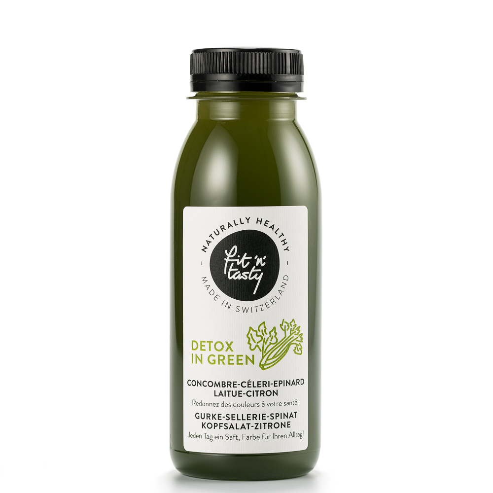 Fit'N'Tasty Cold Pressed Juices Zürich Detox in Green