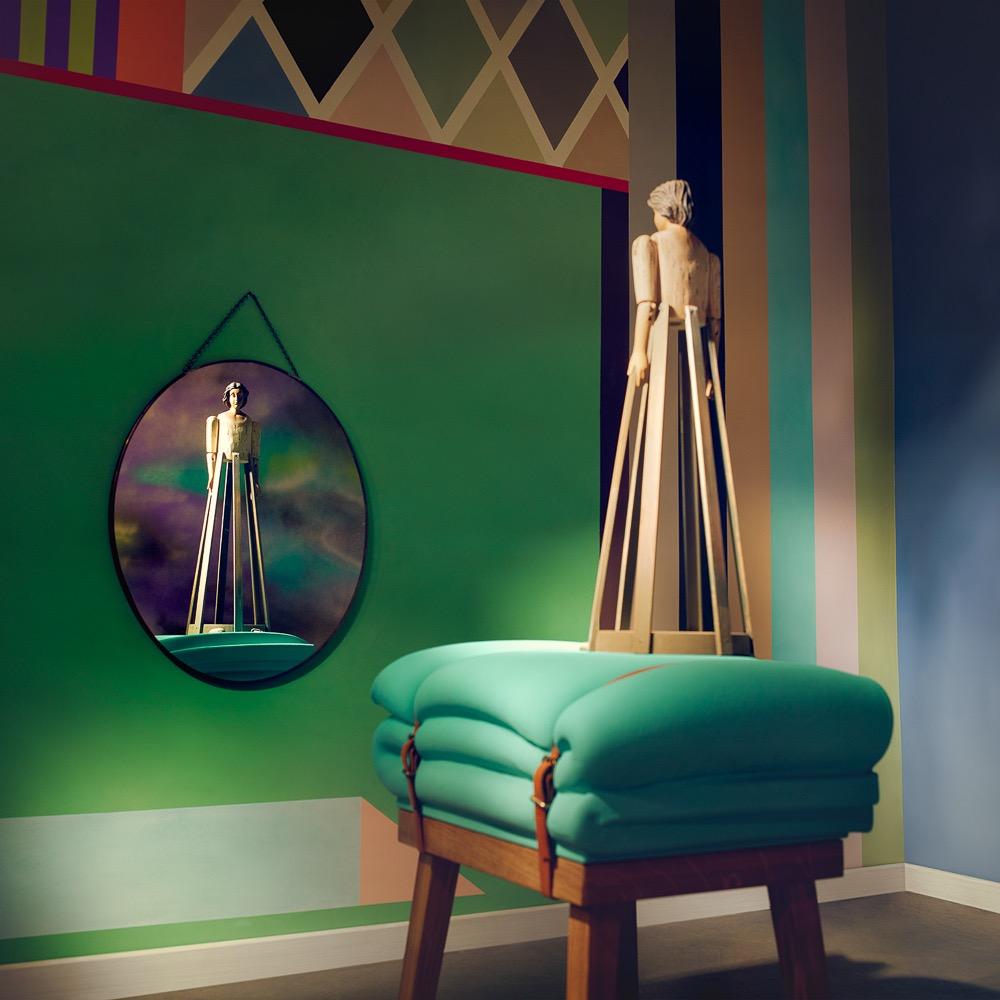 Charlotte Crome farbige Wandgestaltung Grün