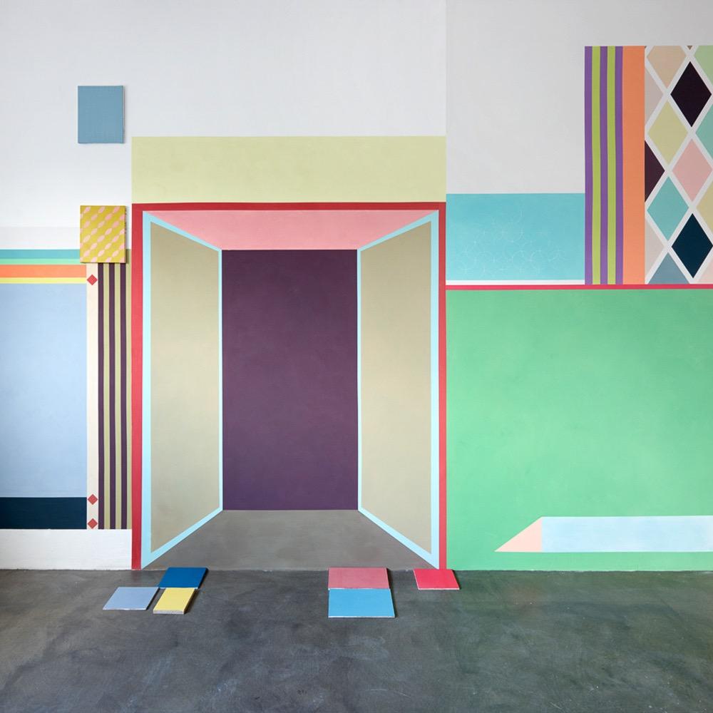 Charlotte Crome farbige Wandgestaltung Hamburg