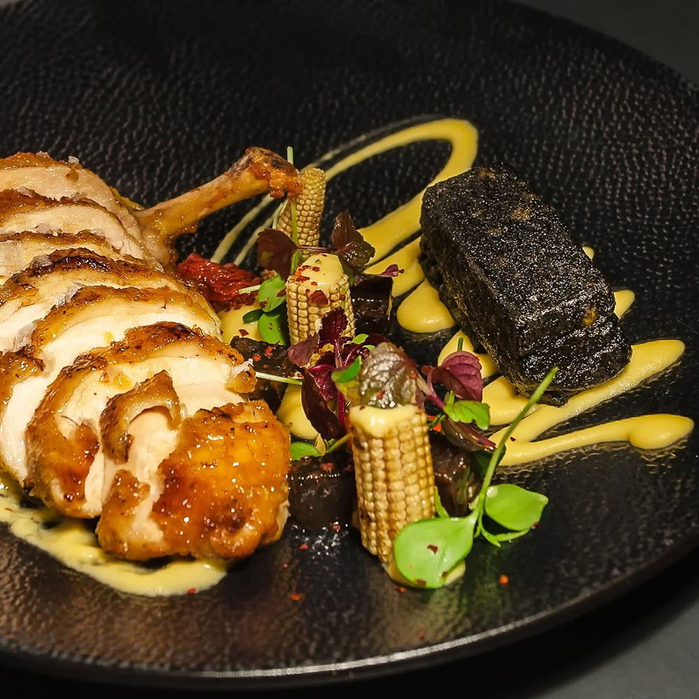 Dae Mon Restaurant Berlin Mitte gebratenes Hähnchen mit Gemüse