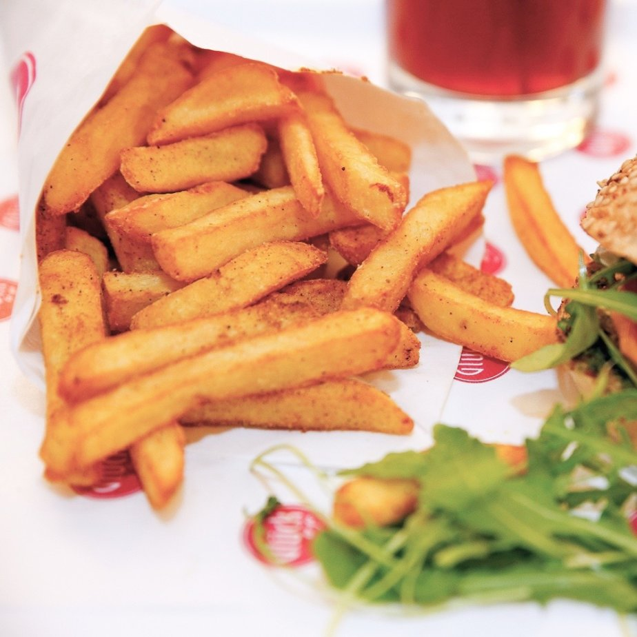 Glück to go Wellfood Burger Ayurveda Pommes Berlin