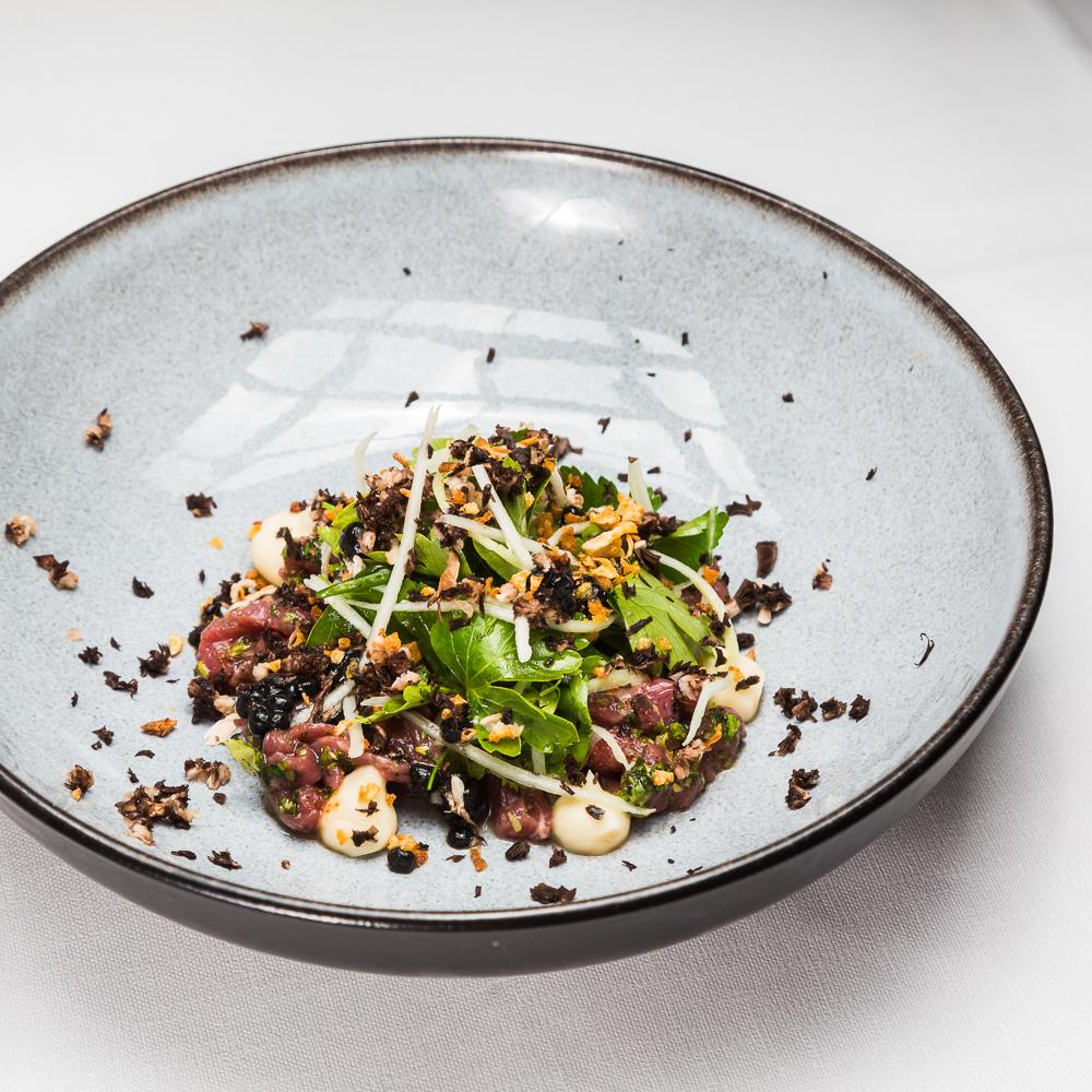 Restaurant Le Faubourg Sofitel Kohlrabi, Parmesan, Estragon, Pilze, Amaranth
