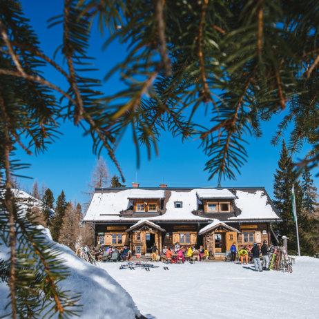 Waidzeit Galsterbergalm im Schnee