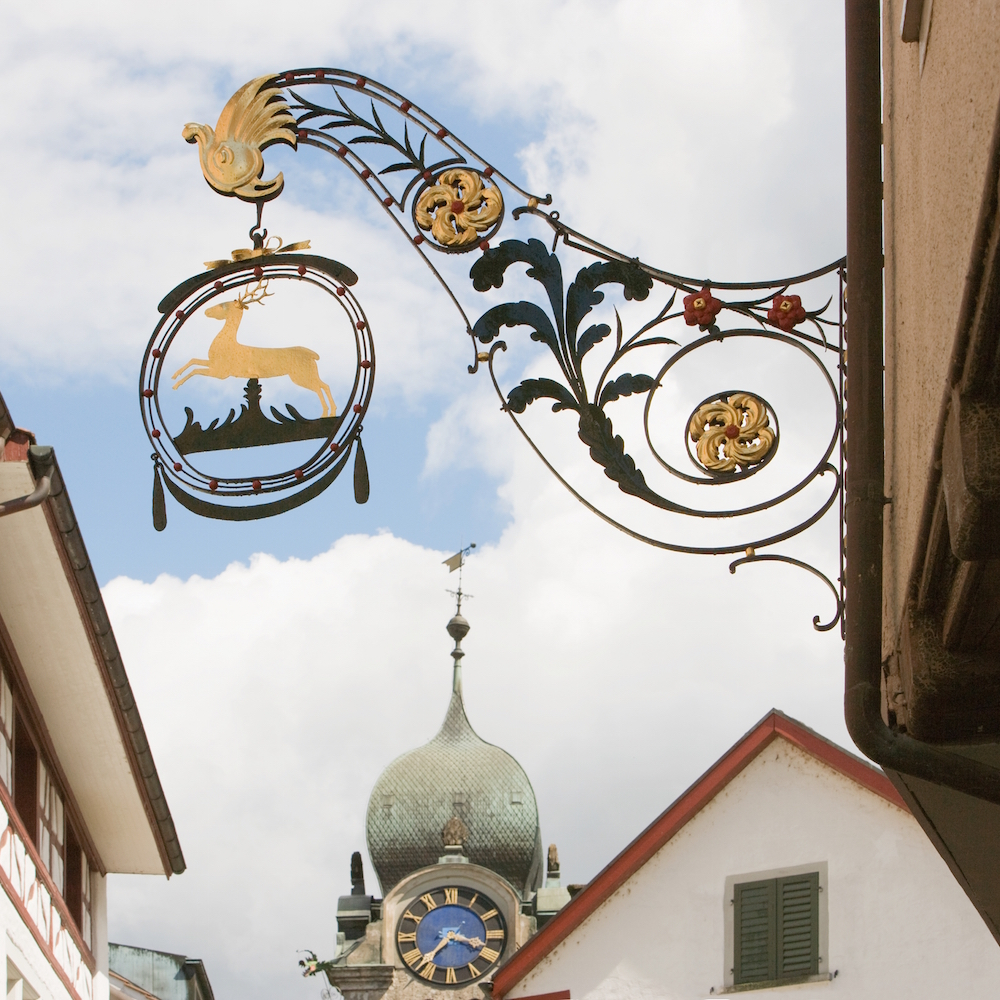 Hirschen Eglisau Wirtshausschild