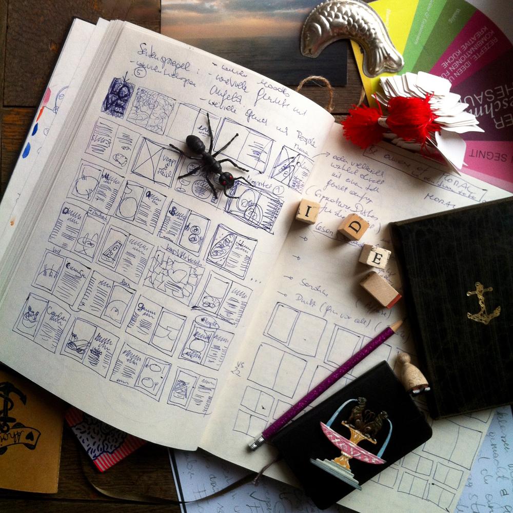 Making of a Cookbook by Eschi Fiege