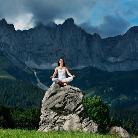 Stanglwirt Yoga Ausblick