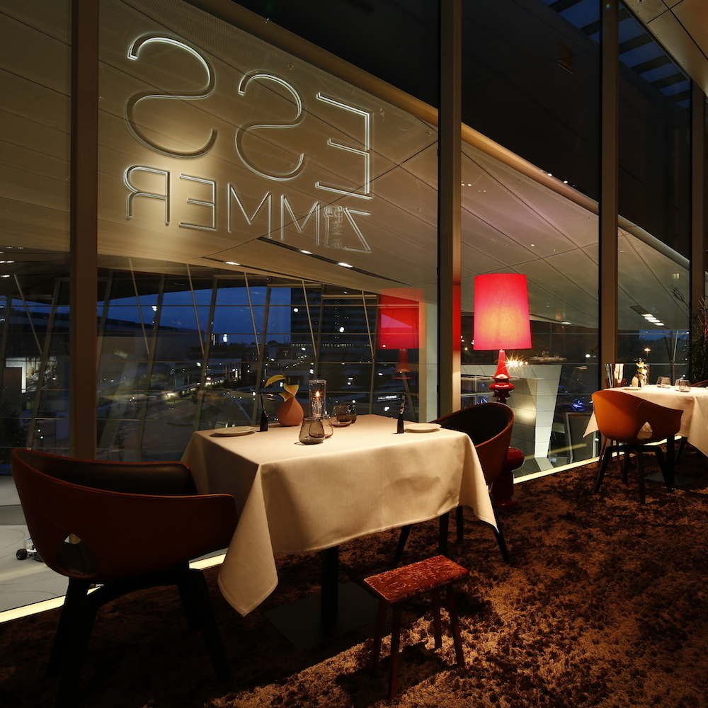 esszimmer restaurant bmw welt m nchen munich creme guides. Black Bedroom Furniture Sets. Home Design Ideas
