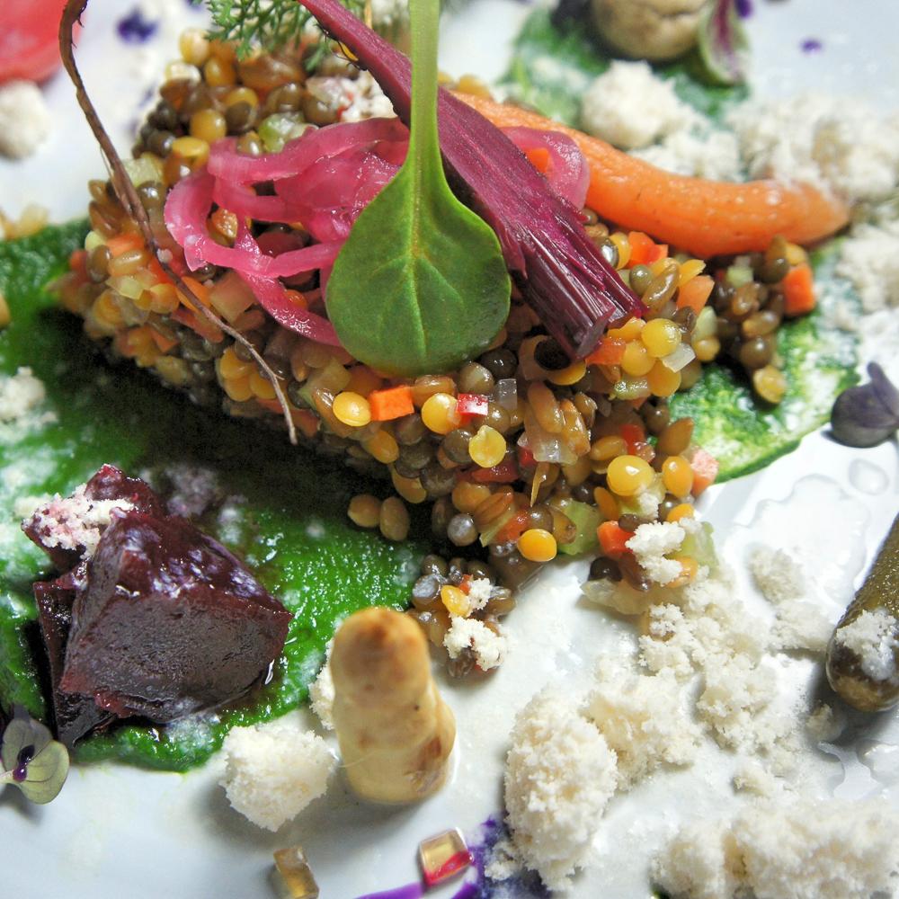 Kitchen Library Restaurant Bleibtreustraße Berlin Gemüse