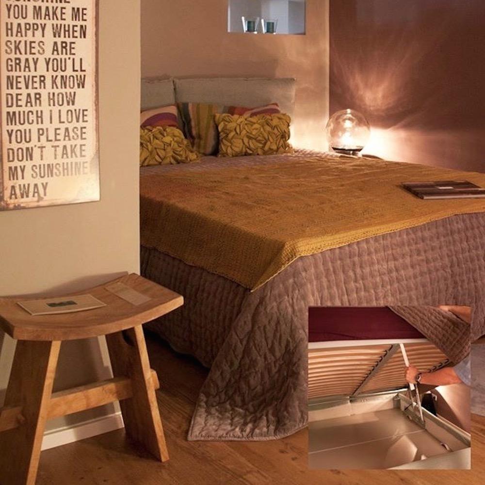 Klewitz. Die Wohnung München - Bett mit Stauraum
