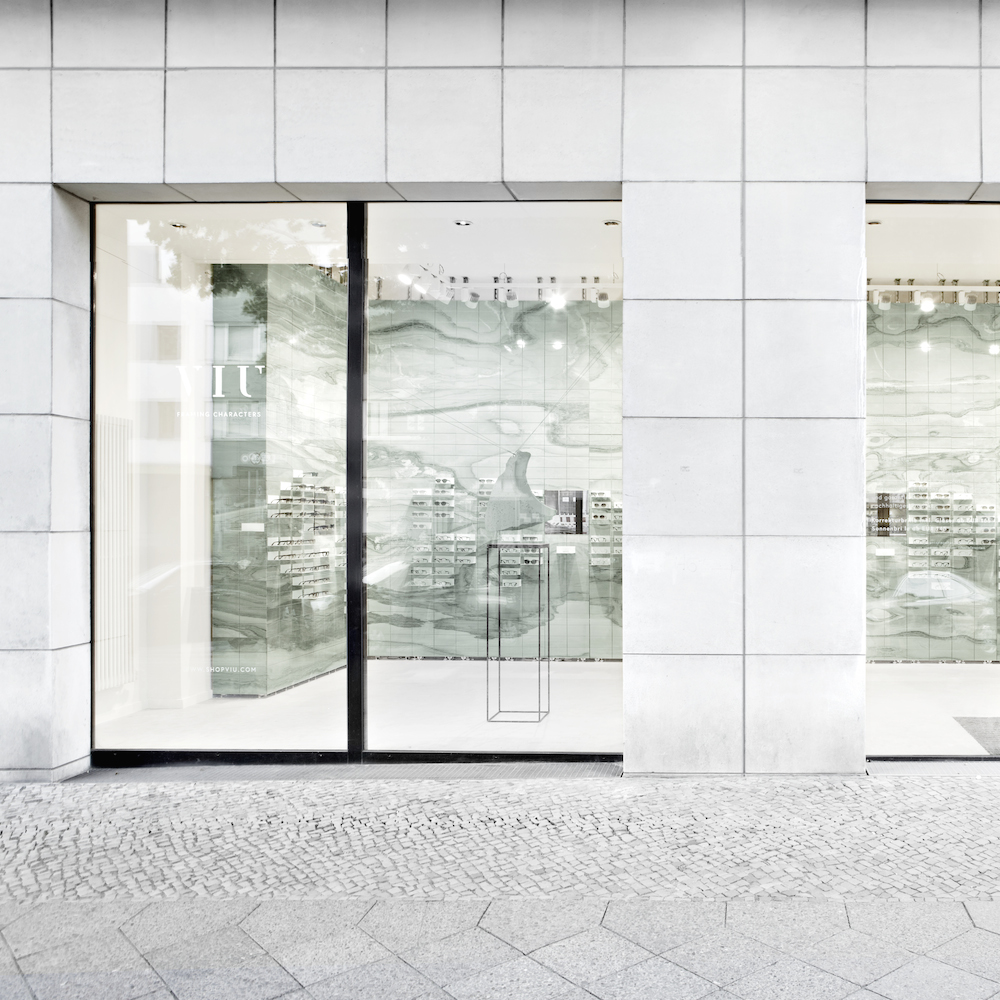 Viu Flagshipstore Berlin - Fassade des Geschäfts in der Potsdamer Straße