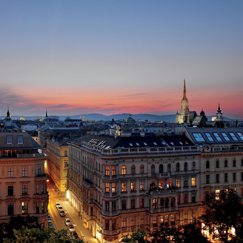 Dstrict Steakhouse im Ritz Carlton Vienna Wien Ausblick
