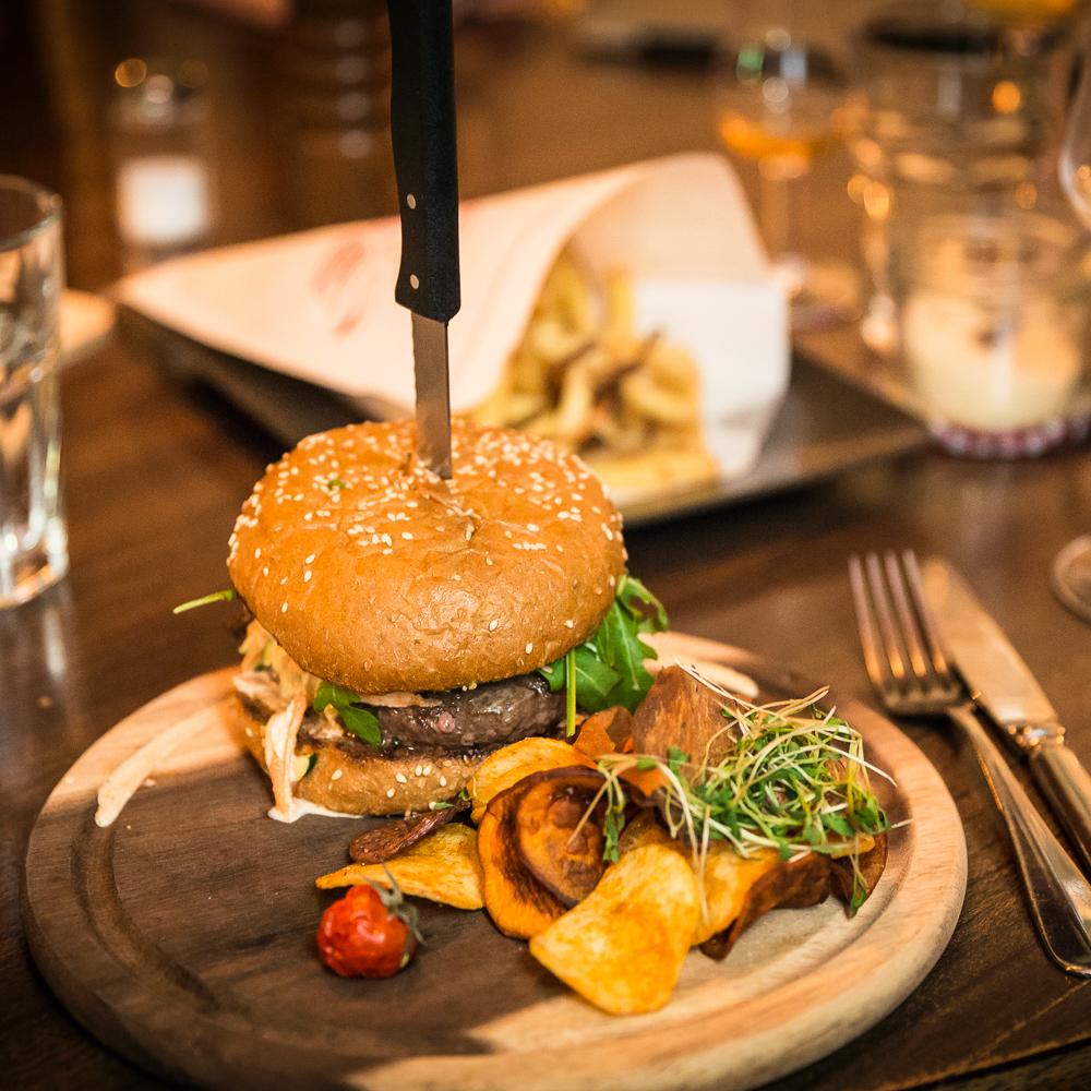 Restaurant Krokodil Zürich Burger
