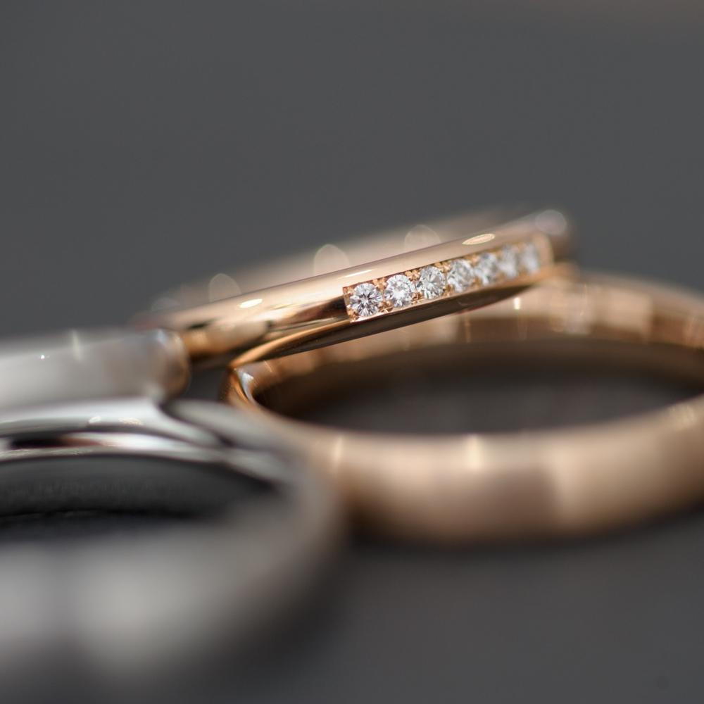 Runde Ringe München - Ehering mit Diamanten