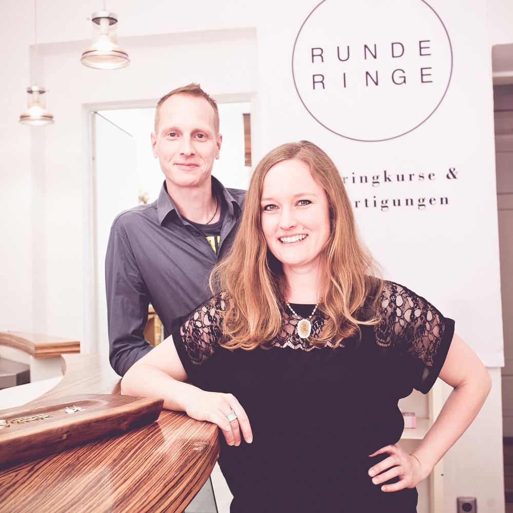 Runde Ringe München - Inhaber Maria Haake und Michael Meinecke