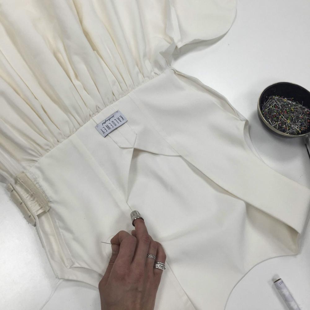 Atelier Kaldewey München Maßgeschneidertes Brautkleid