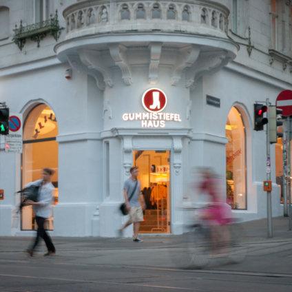 Gummistiefelhaus Wien Fassade