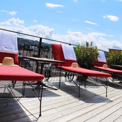 Hotel Ambassador Zürich The view Sunbeds