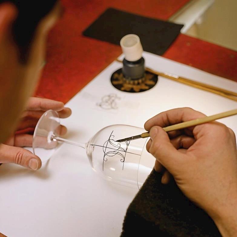 Lobmeyr Glas Wien Produktion Gravur