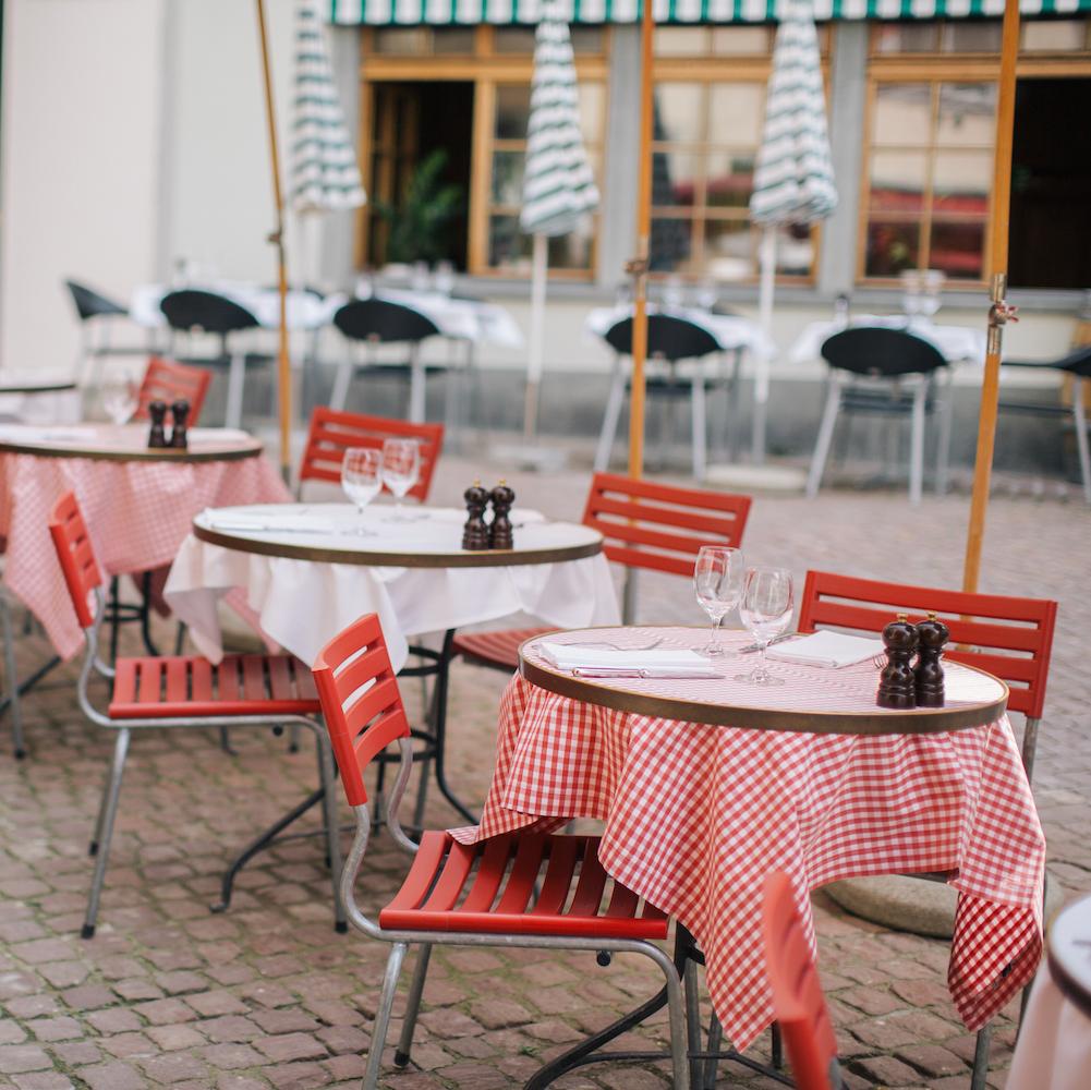 Lumiere französisches Restaurant Zürich Außensitzplatz