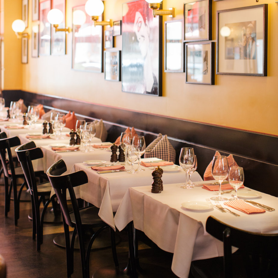 Lumiere französisches Restaurant Zürich gedeckter Tisch