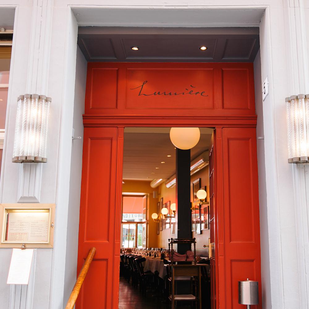 Lumiere französisches Restaurant Zürich Eingang