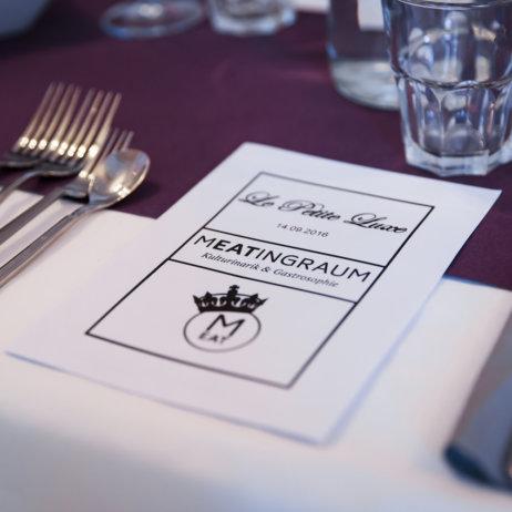 Meatingraum München Westend Speisekarte