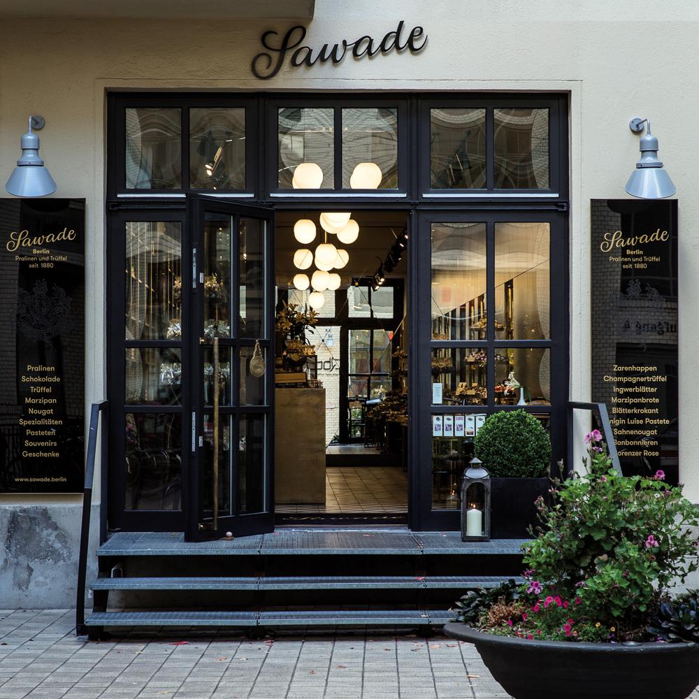 Sawade Pralinen Flagship Store Berlin Eingang