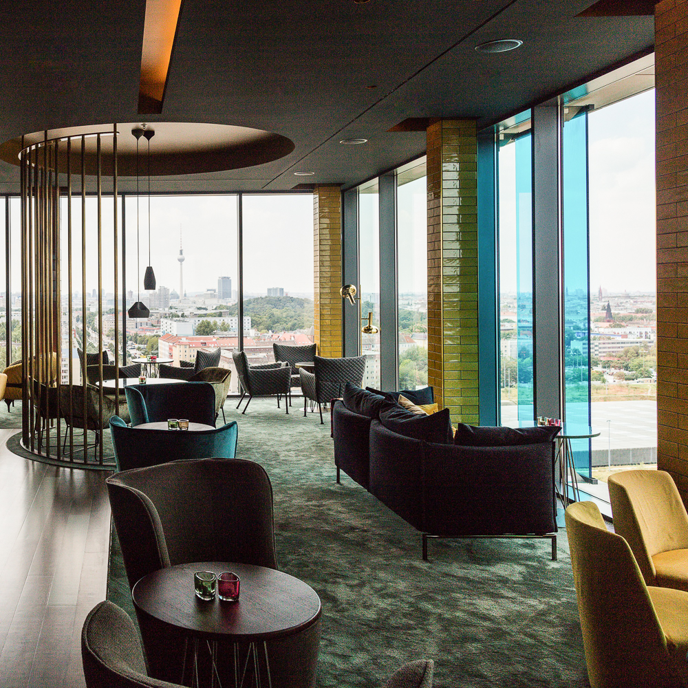 Skybar im Hotel Andels Berlin Ausblick