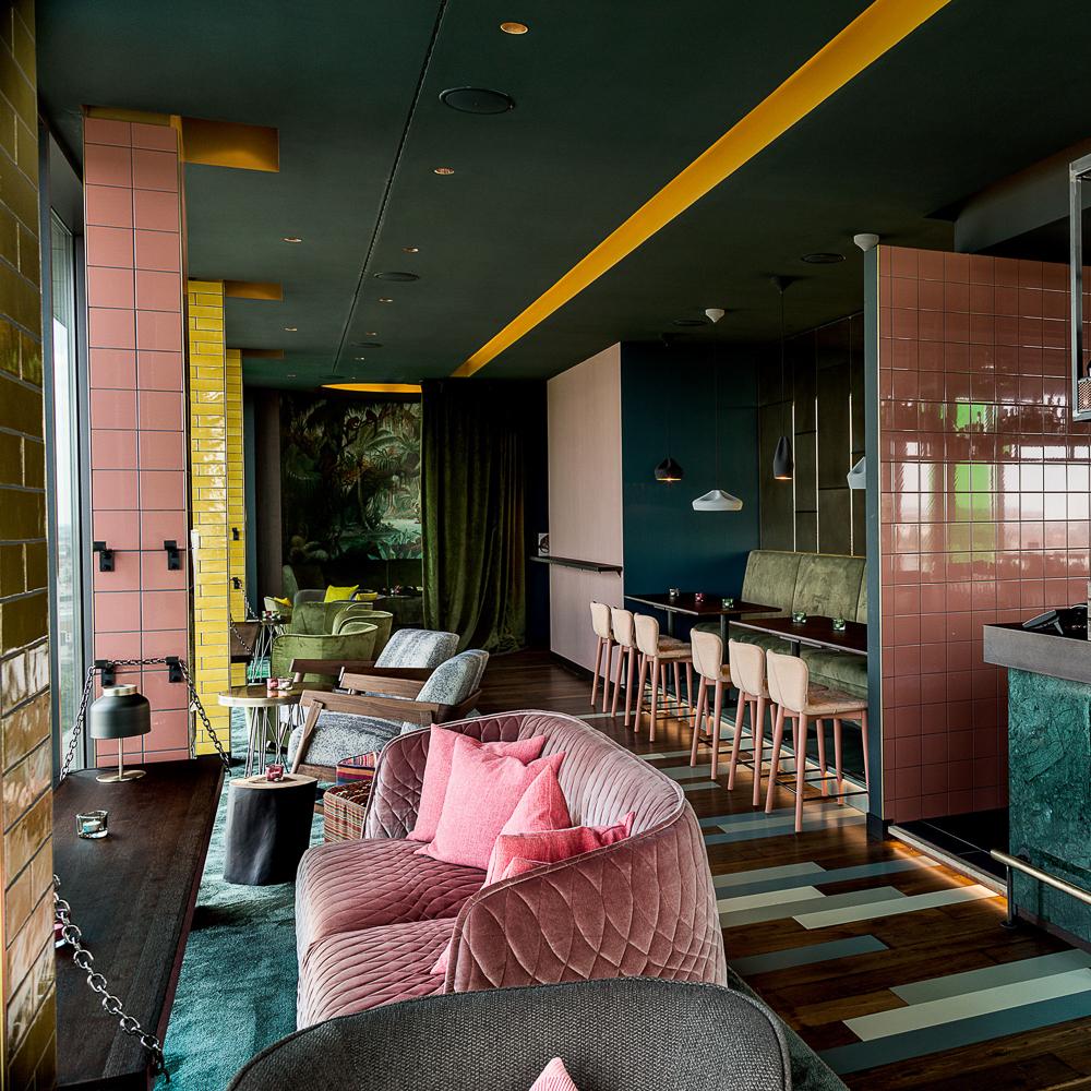 Skybar im Hotel Andels Berlin Einrichtung