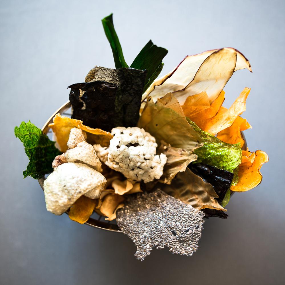 Restaurant Schwein Berlin Mitte Gemüse Chips