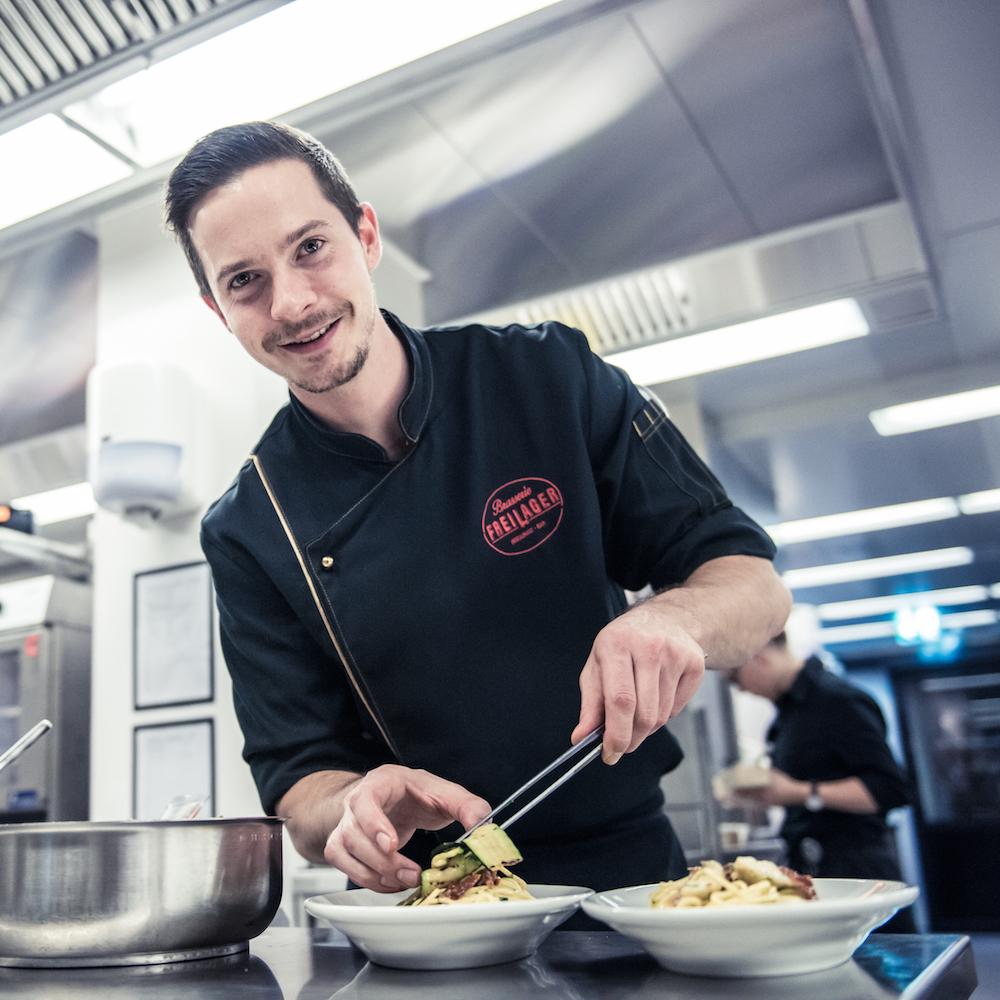 Brasserie Freilager Küchenchef Matthias Widmer