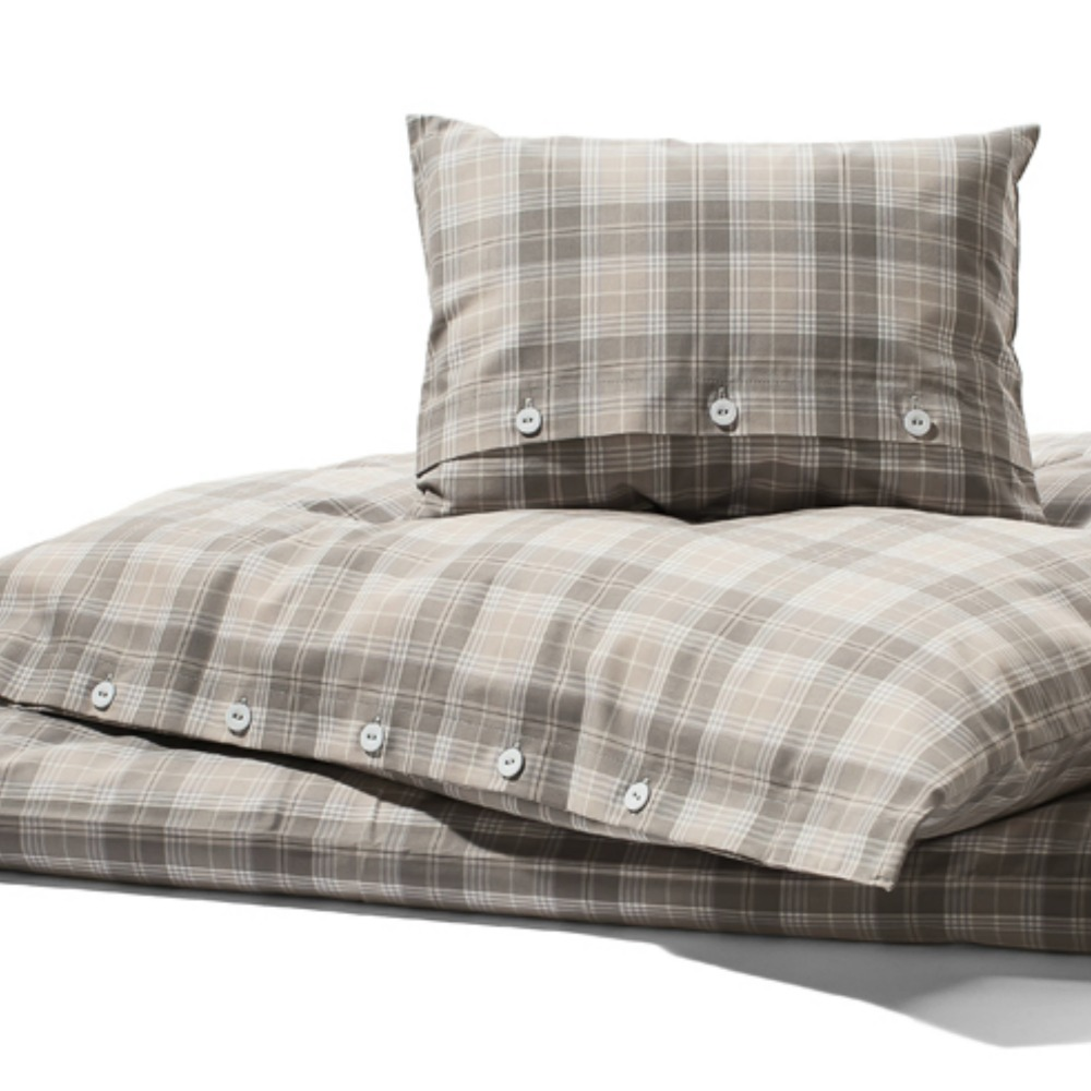bettw sche gro es karo hamburger himmelgrau creme guides. Black Bedroom Furniture Sets. Home Design Ideas