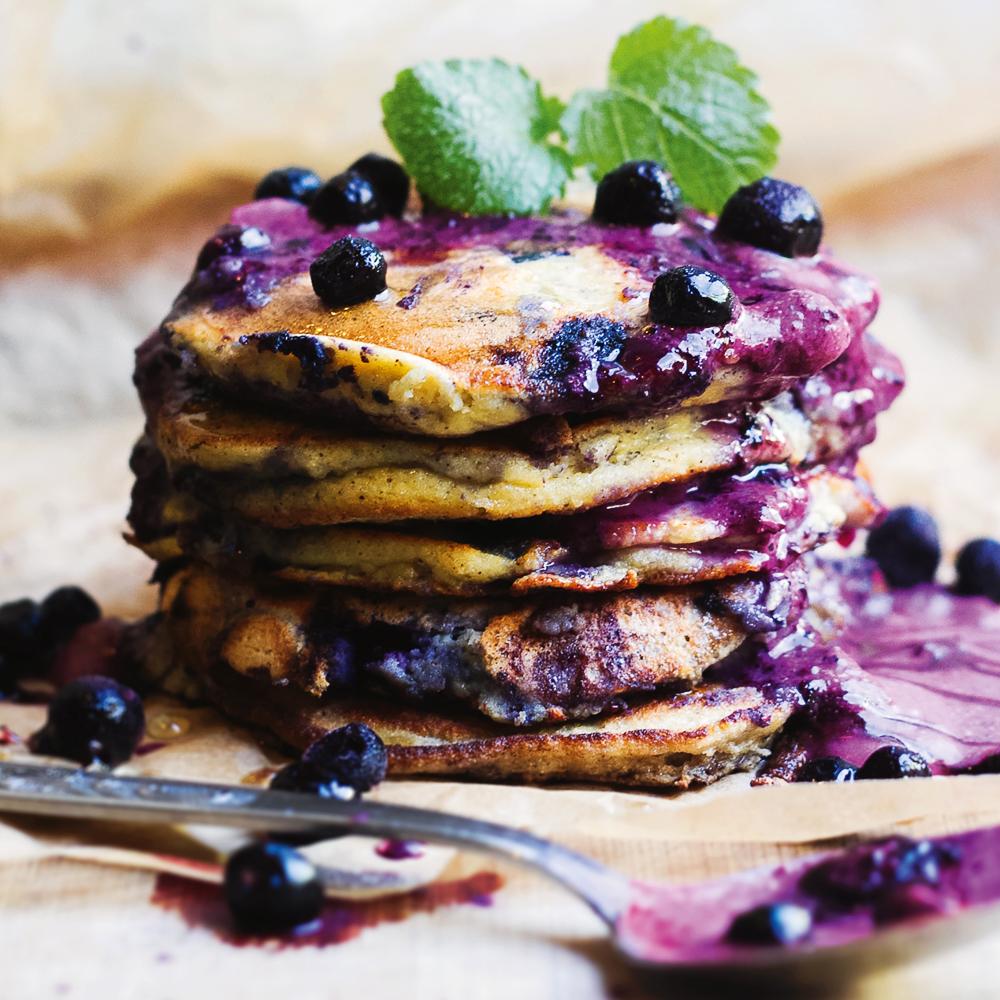 Gesunder Genuss Blaubeer Pfannkuchen