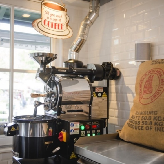 Kaffeerösterei München Viktualienmarkt_Röstmaschine
