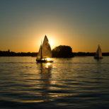 Boote auf dem Wannsee in Berlin_