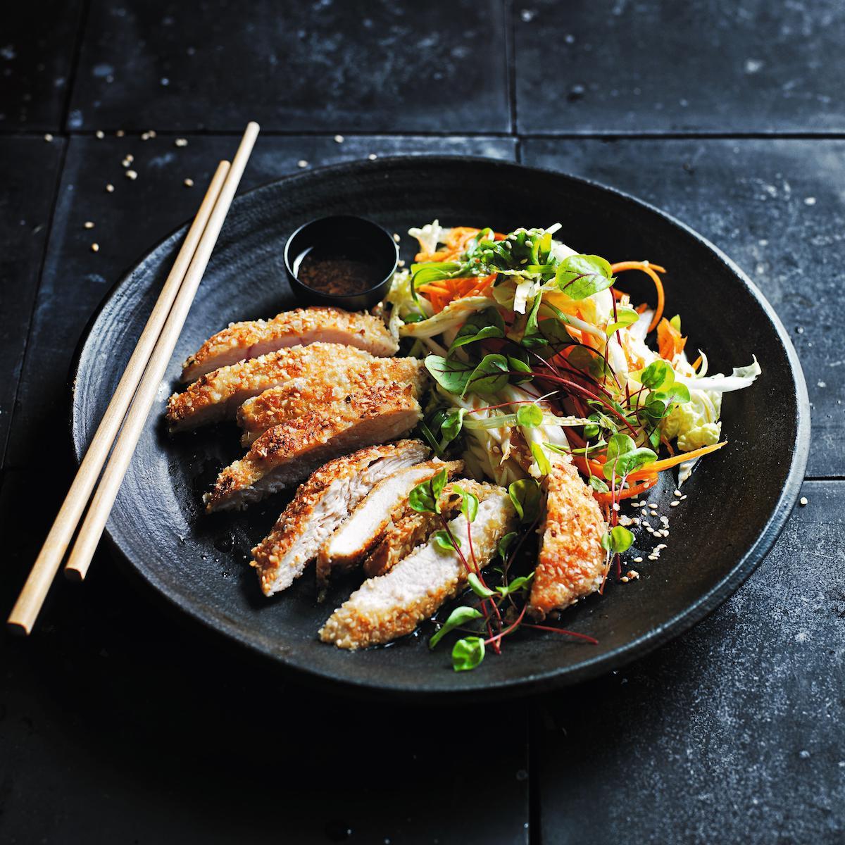 Donna Hay_Chicken Katsu und Krautsalat