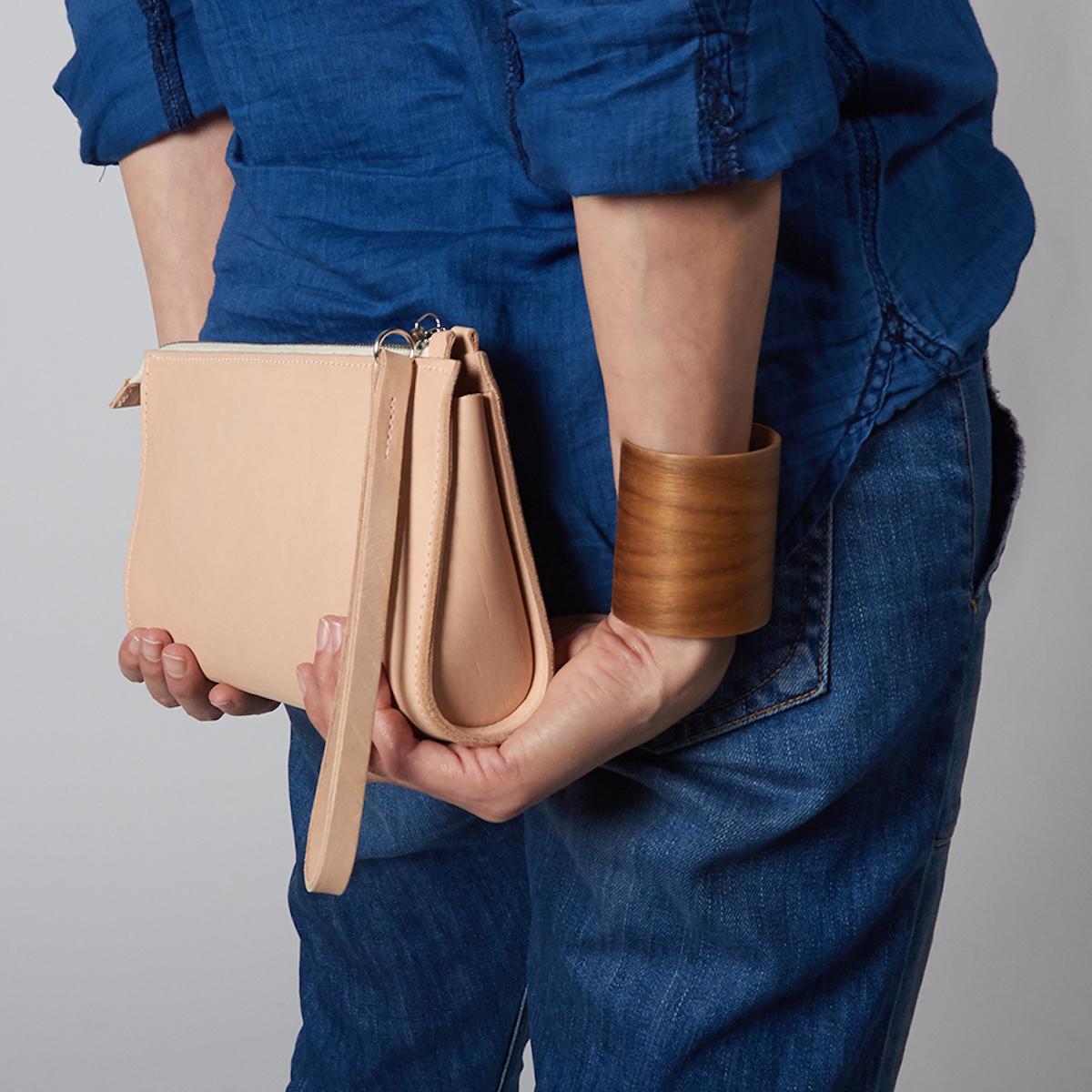 Kathrin Heubeck Taschen_Clutch aus Nappaleder