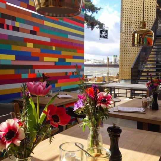Café Entenwerder an der Elbe