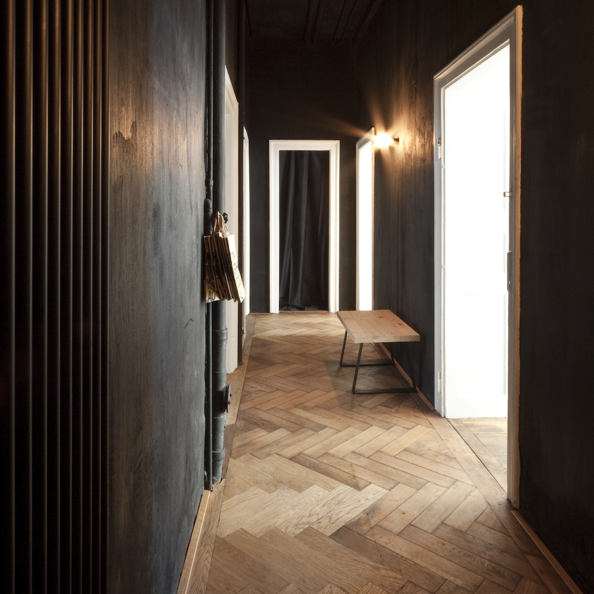 Dressler Friseur Salon Schwabing_Schwarz als Wandfarbe