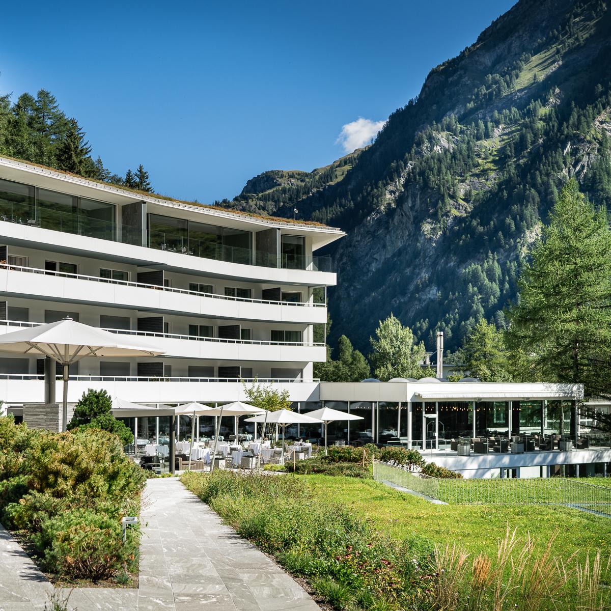 7132 Hotel in Vals Aussenansicht