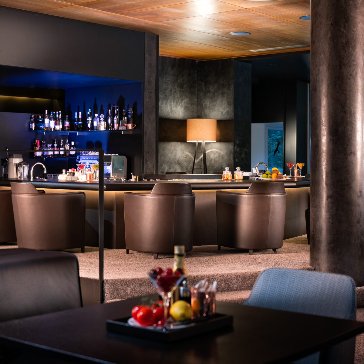 7132 Hotel in Vals Blue Bar