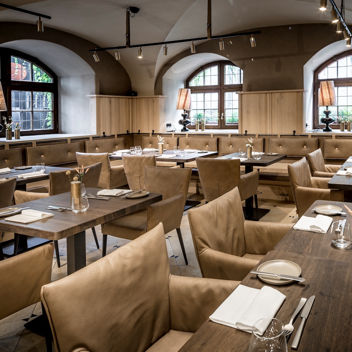 Restaurant Pfistermühle München Altstadt Interieur nach Umbau