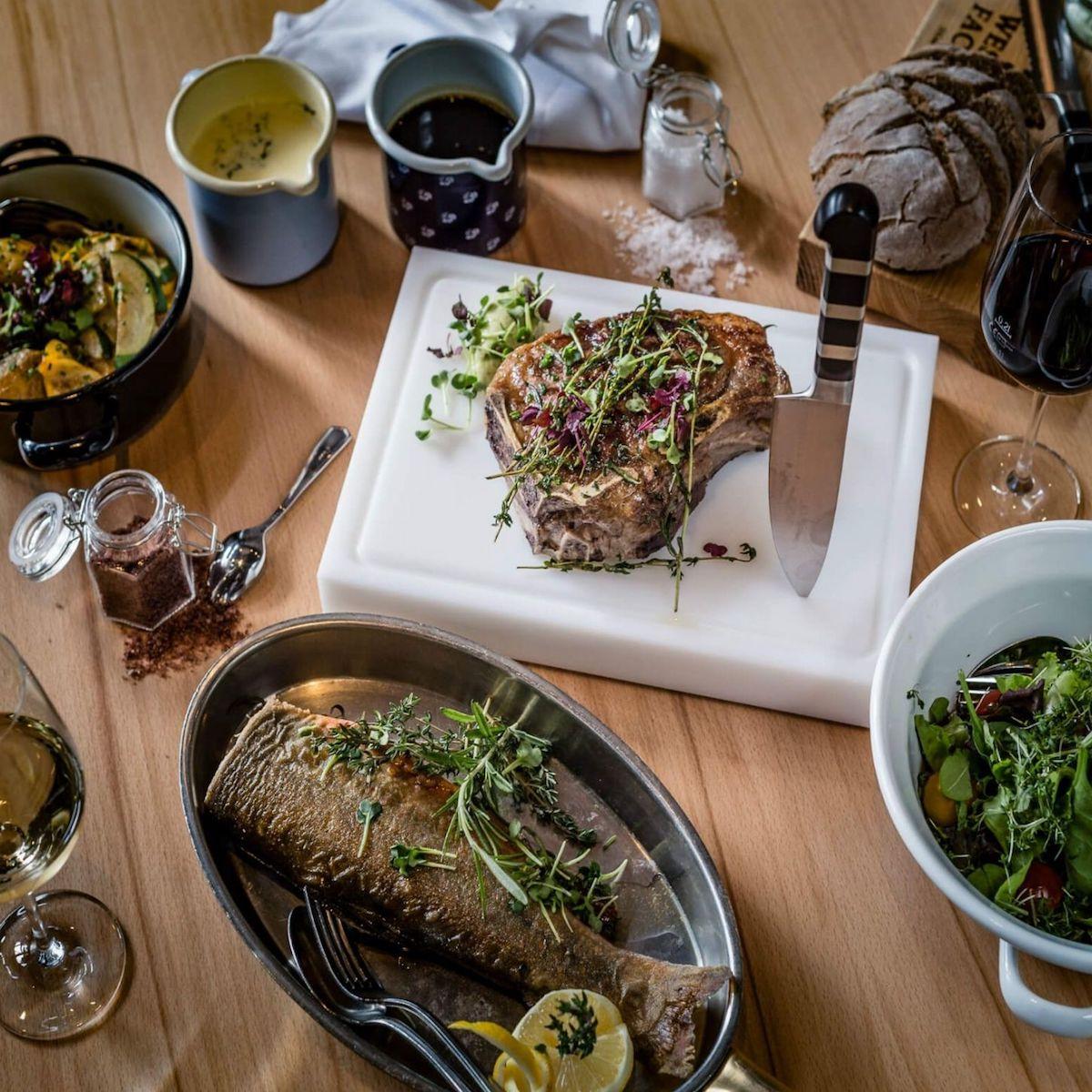 Restaurant Westend Factory München_Porterhouse Steak und Fisch